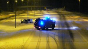 Avkörning på Borgå motorväg i Kullo