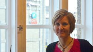 Angelica Löfqvist är ekonomisk rådgivare på resurscentret Föregångarna.