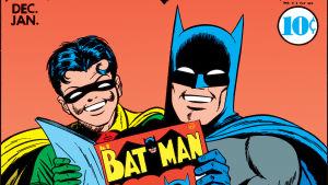 Batman ja Robin lukemassa Batman-lehteä