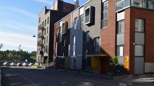Ett av de fritt finansierade husen i Fiskehamnen.