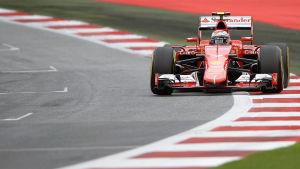 Kimi Räikkönen missade i tidskvalet i Österrike.