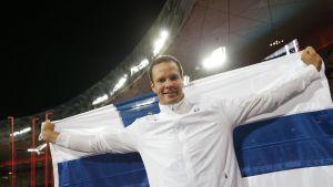 Tero Pitkämäki, VM i Peking 2015.