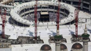 Heliga moskén Masjid al-Haram i Mecka i Saudiarabien.
