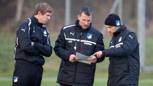 Julian Nagelsmann (t.v.) arbetade en kort tid som assisterande tränare i klubben.