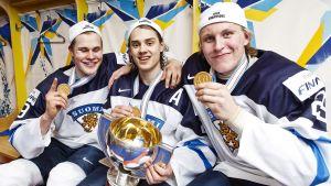 Jesse Puljujärvi, Sebastian Aho och Patrik Laine