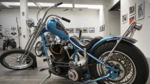 Uppiffad Harley Davidson årsmodell 1966 på Art and Wheels 2015