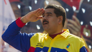 Venezuelas president Nicolás Maduro under en demonstration i Caracas 12.3.2016
