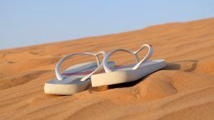 sandaler på sanddyner