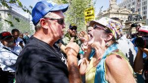 Demonstranter drabbade samman utanför republikanernas partikonvent.