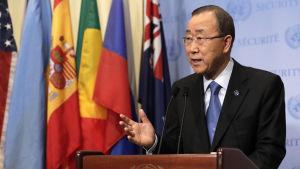 FN:s avgående generalsekreterare Ban Ki-moon har kritiserat Israel i ovanligt skarpa ordalag