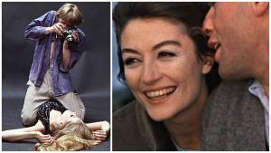David Hemmings ja Veruschka sekä Anouk Aimée ja Jean-Louis Trintignant, kuvat elokuvista Blow-up ja Mies ja nainen.