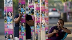 Nästan 70 procent av nicaraguanerna stöder presidentparet Ortega, tack var landets relativt goda ekonomi
