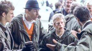Quadrophenia-elokuvan modeja: Spider (Gary Shail), Dava (Mark Wingett), Chalky (Phil Davis) ja Jimmy (Phil Daniels).