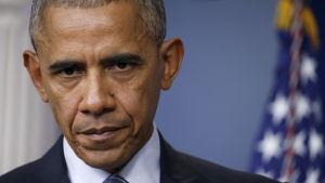 Verkligheten har en vana att göra sig påmind, sa Obama i sin första presskonferens efter Trumps seger