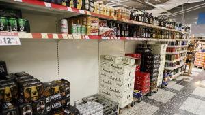 Öl- och ciderutbudet på Citymarket.