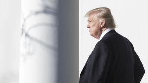 Donald Trump i Vita huset i går.