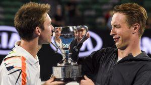 Henri Kontinen och John Peers vann sin första Grand Slam-titel tillsammans i australiska öppna.