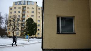 I- och H-byggnaderna vid Vasa Centralsjukhus.