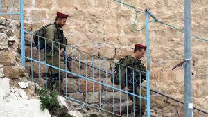Isreliska soldater i Hebron