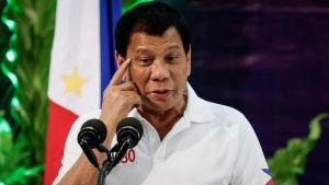 President Rodrigo Duterte håller tal i Manila 8.2.2017