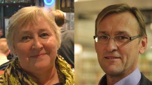Tarja Rinne och Mikael Holmberg.