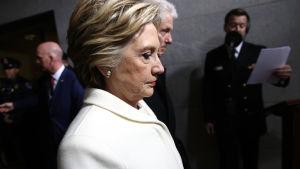 Hillary Clinton och Bill Clinton vid presidentinstallationen för Donald Trump 20.1.2017