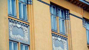 fönster och dekorationer i detalj