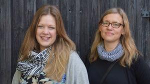 Porträttbild på Julia Ingo och Kajsa Wikman-Colerus