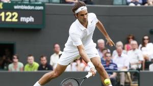 Roger Federer i tennisturneringen i Wimbledon 2014.