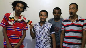 Etiopiska journalister i Nairobi