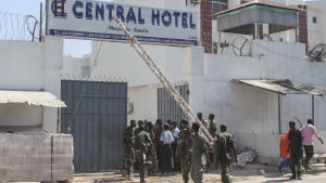 Bombattack mot hotellet Central Hotel i Mogadishu, Somalia, 20.2.2015