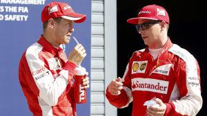 Sebastian Vettel och Kimi Räikkönen, september 2015.
