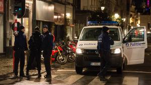 Polis i Bryssel.