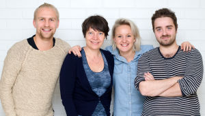 Janne Grönroos, Anne Borgström, Fredrika Lindholm och Ted Forsström