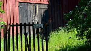 Porten till konstnärshuset i Borgå