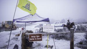 Ockupation av naturreservat i Oregon i USA.