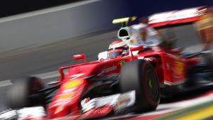 Kimi Räikkönen i Österrikes tidskval.