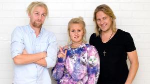 Sami Kuronen med Janne och Fredrika