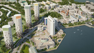 Plan att göra Fortums torn på Kägeludden till bostadshus