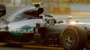 Nico Rosberg solblänkt.