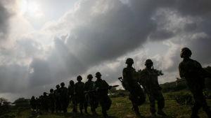 AU-trupper från Uganda och Burundi i Somalia