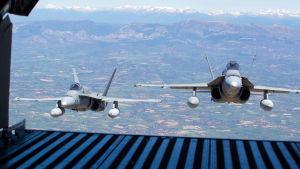 Spanska flygvapnets F-18-plan