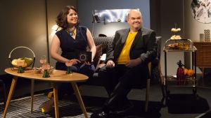 Eva Frantz och Johan Lindroos är De Eurovisa.
