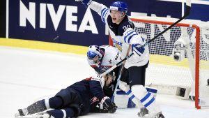 Joonas Kemppainen i matchen mot Slovakien i ishockey-VM.