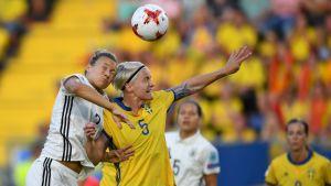 Sverige-Tyskland slutade oavgjort 0-0.