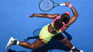 Serena Williams i elden i Australien.