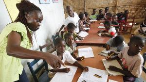 Skola i Liberia, Afrika.