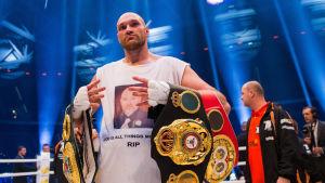 Tyson Fury efter seger över Klytjko, 29.11.2015.