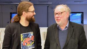 Otso Kivekäs och Björn Månsson debatterade Kronbroarna i Morgonöppet 11.2.16