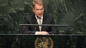 Niinistö talar i FN